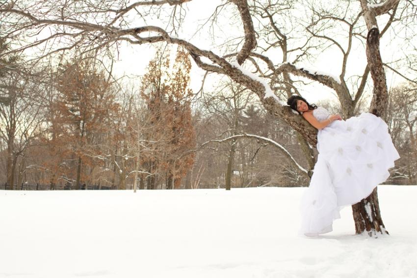 mariée dans un parc de Québec